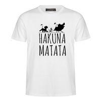 Sommer 2018 Baumwolle T-Shirts HAKUNA MATATA Männer Große Größe T Shirts Kurzarm Slim Fit Mode Tops Tees Männliche Kleidung XXXL MC31