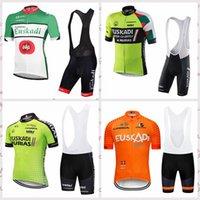 EUSKADI Takımı Bisiklet Kısa Kollu Jersey Önlüğü Şort 2020 Adam Rahat Ve Nefes Aişreleri Yol Bisiklet Giyim C618-16