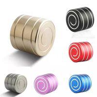 Spinning Descompressão Desk Top Brinquedos Anti Estresse Fidget Spinner movimento em espiral Brinquedos para adultos dos miúdos HH7-421