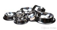 Bulaşık Evcil Hayvan Yemi Bowl XS-3XL Besleme E25 paslanmaz çelik köpek kase Kayma Önleyici Köpek Kedi Maması Tutucu Su Besleyici