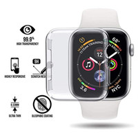 حافظة من السيليكون الناعم لـ Apple Watch series 4 44mm 40MM TPU TPU Cases for iWatch All-around Cover رقيقة جدا إطار واضح