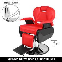 Профессиональный салон парикмахерный стул 8702A красный