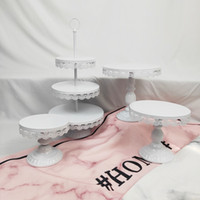 4PCS Wedding Cupcake Set Tray 3 Tier Wholesale White Silver ...