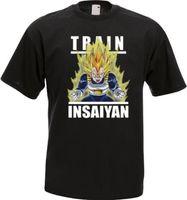 Tren Insaiyan Gym Súper Vegeta Goku Dragon Ball Z Hombres Negro Camiseta  Tamaño S-3X 88bd4bb9a690a