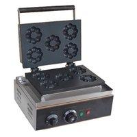 Ticari Yeni Tip Plum Blossom Pasta Makine 1550w Donut Maker Çiçek Şekli Waffle Makinesi 5 Izgaralarını Yapımı