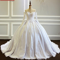 2020 High Quality Ball Gown Wedding Dresses Off Shoulders Lo...