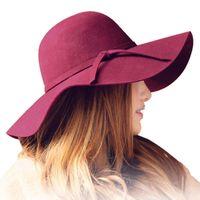 Wholesale red hat ladies online - Autumn winter Summer fashion fedoras  vintage pure Women s Beach c3651fea0eb