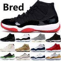 Jumpman Bred 11 11s mens basketball shoes concord 45 gamma b...
