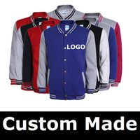 Men Women Baseball Jacket LOGO DIY Customized Design Sweatsh...