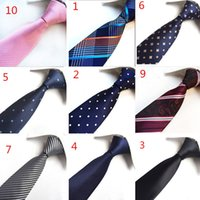 كلاسيك متعدد الألوان الرجال الحرير التعادل ربطة العنق مجموعة بيزلي الزفاف جاكار نسج العلاقات