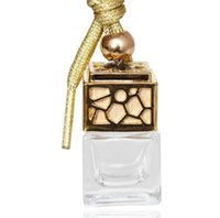 زجاجة عطر مكعب السيارات الشنق العطور حلية الهواء المعطر الزيوت العطرية الناشر رائحة زجاجة فارغة زجاج 5ML GGA1480