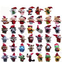 40 estilos Establece conjuntos de marionetas de dedo de Navidad Colección de animales personajes Conjuntos de digitación, XMAS Padre-niño Juguetes Muñeca dedo Dedo Regalo C2284