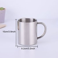 Stainless Steel Double Layer Coffee Mug 300ml 400ml Cups Portable Camping Cup With Handgrip Stainless Steel Mountaineering Mugs BH1116-3 TQQ