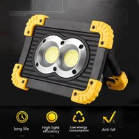Portable LED Camping Light USB Rechargeable Searchlight Outdoor Portable Warning Light 20W COB Work Searchlight Color