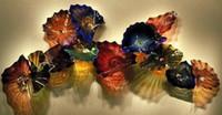 Античный стиль Рука выдувное стекло висячие плиты стены искусства боросиликатного стекла Murano Дешевые свадебные Декоративные стекла Тарелка Wall Art