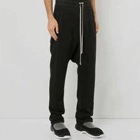 Abbigliamento Pantaloni felpa estate Donne Croce Figura intera pantaloni larghi neri Men Casual Harem pantaloni degli uomini di Gothic Cotton XL
