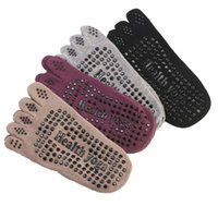 Meias de algodão Yoga antiderrapante Pilates respirável invisível Yoga Five Finger Esporte Socks Para Foot Care Tools 4colos RRA1588