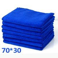 Festes blaue Mikrofaser Car Wash Handtuch Soft-Reinigung Auto Autopflege Detaillierung Waschlappen Handtuch Duste Neuer heißen Verkauf auf Lager