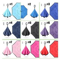Folding Reverse Umbrella 76 Styles Double Layer Inverted Lon...