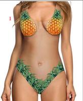 YENI Ev giyim meyve pijama Mayo Avrupa ve Amerika seksi kavun ten rengi bayanlar tek parça bikini mayo mayo