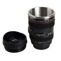 400ml Camera Mug Creative Portable Stainless Steel Tumbler Travel Milk Coffee Mug Novelty Camera Lens Double Layer Cups VT1348-1