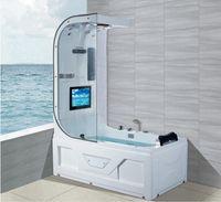 1600mm whirlpool cachoeira banheira hydromassage surf top chuveiro tv função termostática banheira interna NS3220
