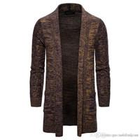 Мужская осень Дизайнер Вязаные свитера Мода Solid Кардиган Свитера Повседневный V шеи с длинными рукавами Мужская одежда
