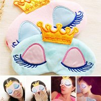 Couronne Eye Blinder Winker Sommeil Masque Rembourré Eyeshade Reste Relax Sleep Cover Couvre Voyage Dessin Animé Longs Cils