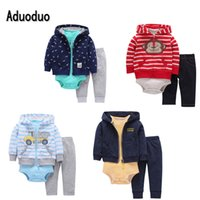 2017 New 3pcs Set Baby Boys and Girls Long Sleeve bodysuit P...