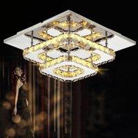 통로 램프 간단한 현대 크리스탈 조명 복도 램프 스퀘어 LED 천장 조명 크리스탈 조명 현관 조명 현관 조명