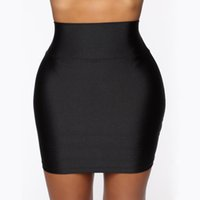 New Women Mini Solid Elastic Short Skirt Pencil Skirt Bodyco...