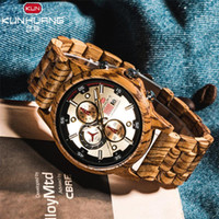 Wood relogio masculino Wooden Watch Date Display Casual Men ...