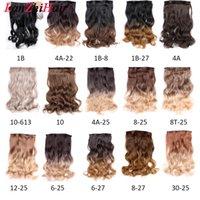 Kadınlar İçin Saç Uzatma Uzun Vücut Dalga Doğal Siyah 5 Adet Tam Kafa Klip / Set 16 Klipler 22 İnç Sentetik Saç Parçası