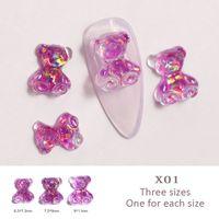 prodotti per le unghie all'ingrosso Orso disegni unghie Strass Mix Mini Pietre 3D fascino Resina Materiale manicure gioielli e accessori per la nail art