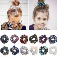 Baby Infant Mermaid Sequins Hairbands Children Hair Ring Pon...