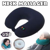 6-modalità elettrica a forma di U-cuscino di viaggio del collo cuscino massaggiatore vibrazione cervicale cuscino massaggio rilassante auto di famiglia