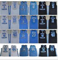 NCAA نورث كارولينا تار الكعوب مايكل كلية 5 ناصر ليتل كارتر 32 لوقا مايي بارنز فينس UNC أزرق أسود أبيض كرة السلة الفانيلة