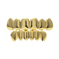 Real gold plating teeth grillz glaze gold grillz teeth hip h...