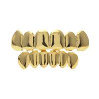 Vero placcatura oro denti Grillz Grize Gold Grillz Denti Hip Hop Bling Gioielli Body Body Piercing Gioielli 150001