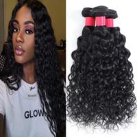9A del Virgin del brasiliano dei capelli Bundles 100% non trattati dell'onda di acqua dei capelli umani malesi Bundles peruviani estensione dei capelli umani tesse