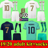2019 2020 Real Madrid adult Kit Soccer Jerseys men kits HAZA...