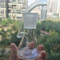 Più nuovo di vetro Ashcatcher 18mm Catcher di cenere a buon mercato Glass Bong Acqua Pipes Reclaim Catcher Due funzioni per il tubo dritto Bongs Bubblers