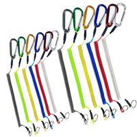 سلسلة مفاتيح Carabiner Anti Lost Rope Retractable Spring Key Ring