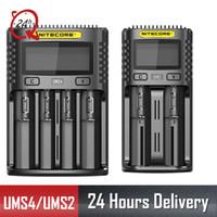 Carregador QC NITECORE UMS2 UMS4 UM2 UM4 SC4 inteligente para 18650 16340 21700 20700 22650 26500 18350 aa aaa Battery Charger T191019
