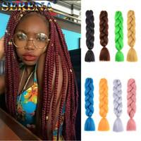Xpression Синтетические плетение волос 24inch 100grams одноцветный Дешевые человеческих волос Плетение кос Связки Kanekalon джамбо скрутить выдвижения волос