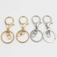 2018 Silver/Gold Biger Lobster Clasp Tone Key Chains & Key Rings Round Split keychain Car Key Rings Blank Metal Keychains LX5938