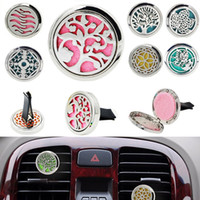 Home Essential Oil Diffuser For Car Air Freshener Perfume Bottle Locket Clip With 5PCS Felt Pads Home Fragrances 23 Styles XD20314