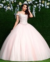 Elegant Ball Gown Quinceanera Dresses Off Shoulder Beaded Sweet 16 Dresses vestidos de quinceañera vestidos de 15 años 2020