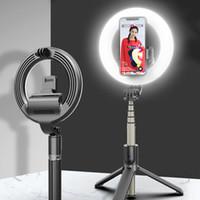 2020NEW 5inch mini portáteis Luz Anel com tripé e telefone celular titular para maquiagem YouTube Video L07 selfie Vara Com LED luz de preenchimento
