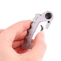 7 في 1 المقاوم للصدأ مفتاح سلسلة أداة متعددة edc كيت تسلق المفاتيح كليب الفضة المشي تسلق شماعات مشبك أدوات الهواء الطلق